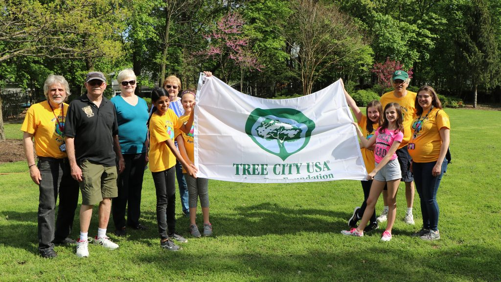 Tree City USA flag in Fanwood 2019