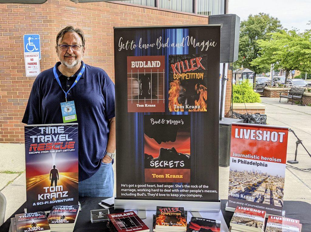 Tom Kranz with book display