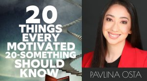 20 Things book cover and Pavlina photo
